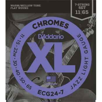 D´addario ECG24-7 Chromes Jazz Light 7 Cuerdas para Guitarra Eléctrica